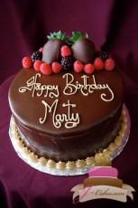 (150) Fresh Berry Birthday Cake
