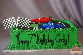 (515) Racecar Theme Cake