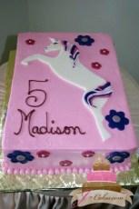 (432) Unicorn Birthday Cake