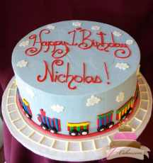 (443) Train Birthday Cake