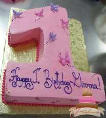 (450) Number Shaped Birthday Cake