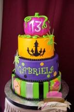 (458) Halloween Theme Birthday Cake