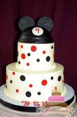 (461) Mickey Mouse Polka Dot Birthday Cake