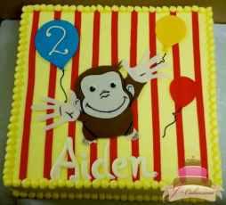 (466) Curious George Birthday Sheet Cake