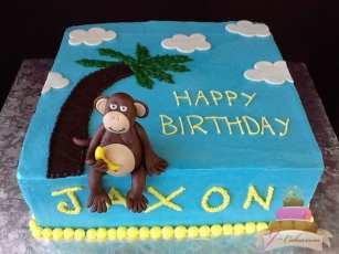 (469) Monkey Birthday Cake