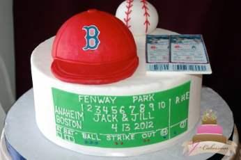 (714) Boston Red Sox Theme Groom's Cake