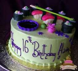 (903) Sushi Sweet 16 Cake