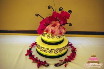 (810) Orchid Anniversary Cake