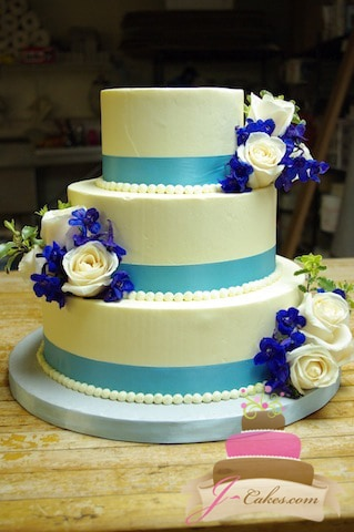 wedding cake with blue ribbon beautiful and delicious wedding cakes in ct 26829