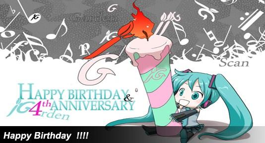 Happy Birthday Four J-Garden !!!!!!!!!!!!