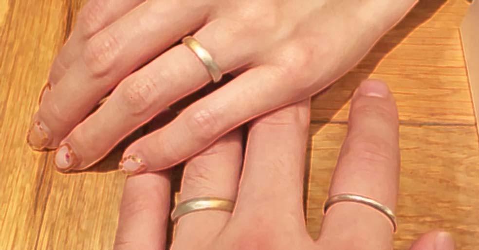 2人で作る結婚指輪-完成-着用