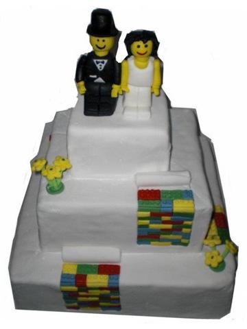 HochzeitsTorte Lego auf Jade