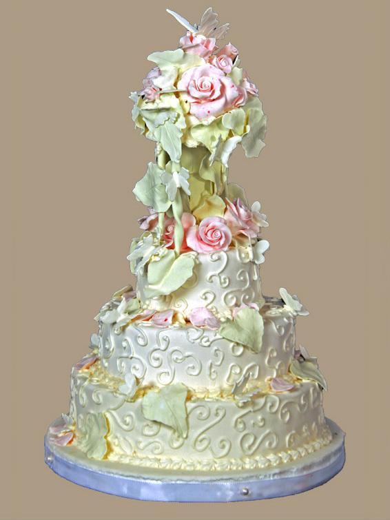 HochzeitsTorte Romantisch auf Jade