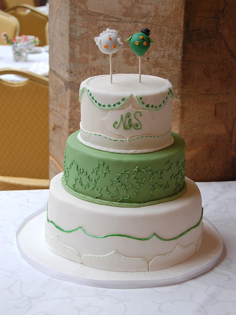 HochzeitsTorte Cake Pops auf Jade