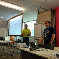 Hemant and Jason presenting
