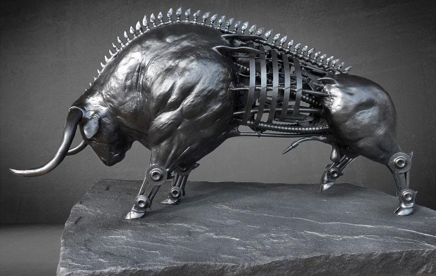 3D model industriele metallic steampunk cyborg stijl creatie gemaakt door kunstenaar Jaap Roos art