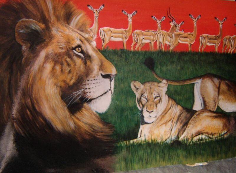 dierenschilderij gemaakt door natuurschilder Jaap Roos. Wildlife kunst
