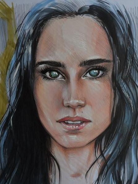 Movie art van bekende actrice Jennifer Connelly