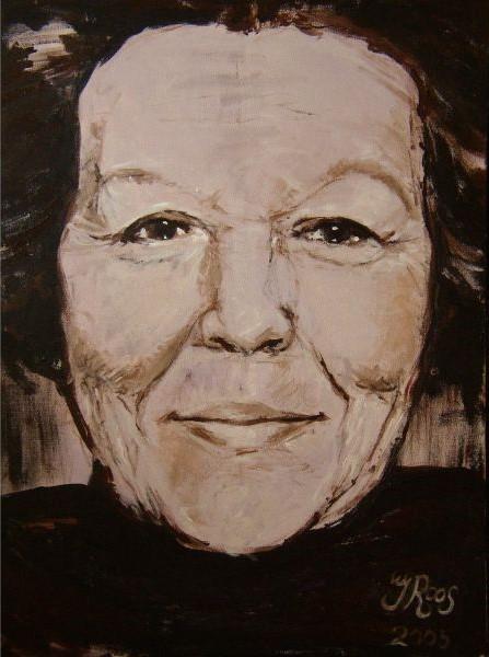 schilderij portret van koningin Beatrix 120x100cm