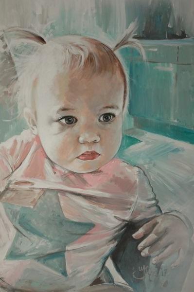 Portretschilderij kind