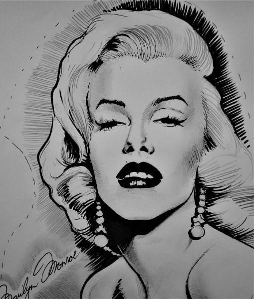 Schilderij van sekssymbool icoon Marilyn Monroe