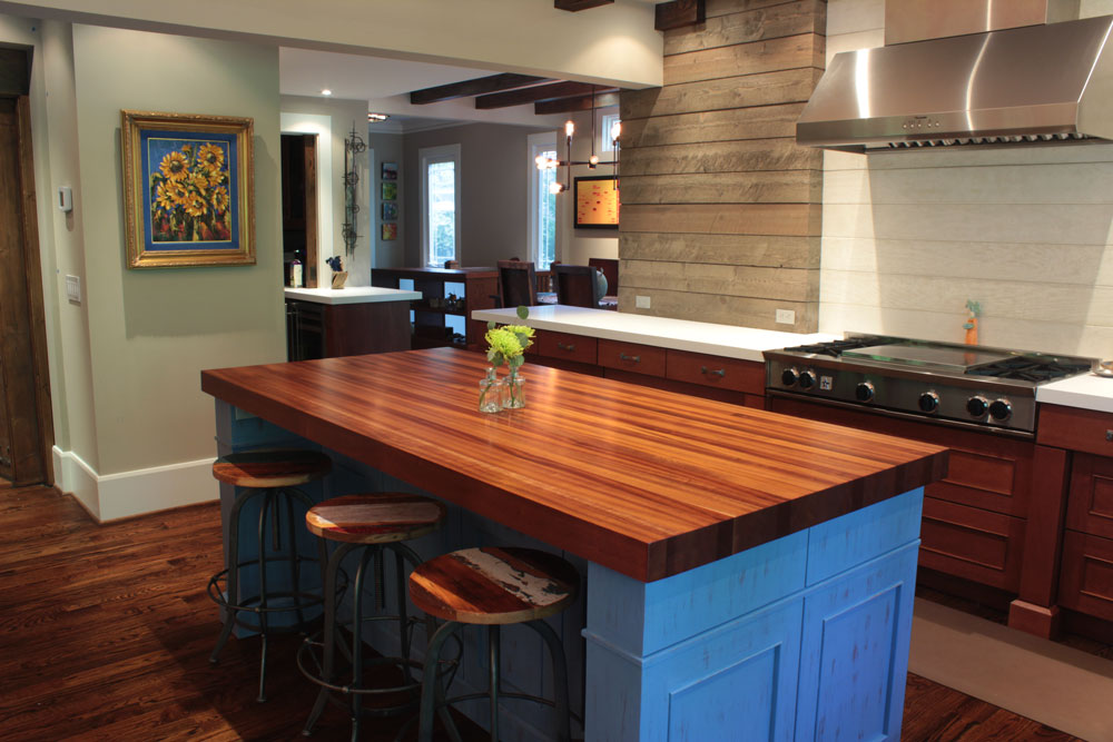 butcher block top kitchen island sink mounting hardware sapele mahogany countertops - j. aaron