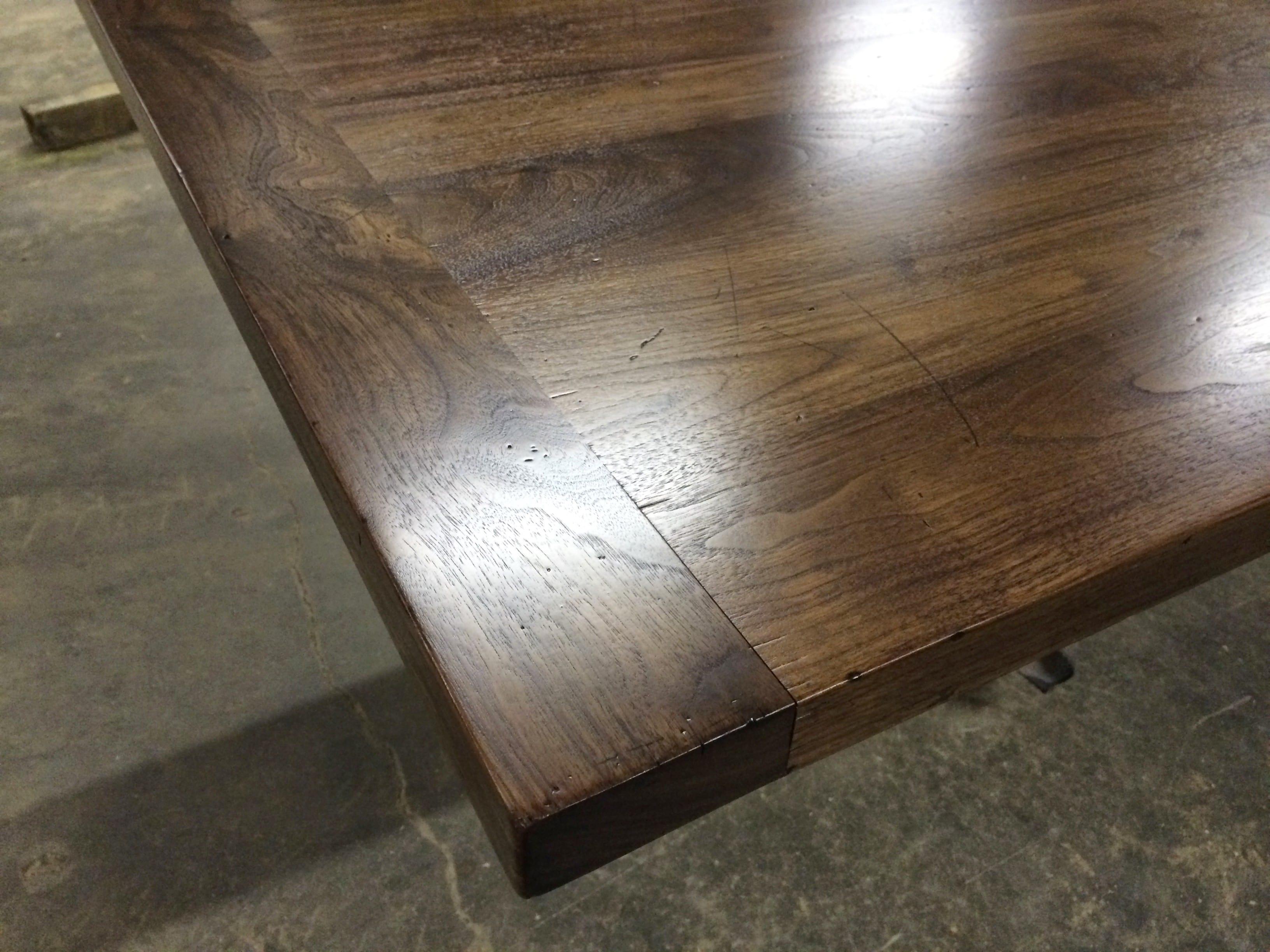 Distressed Walnut Countertop With Breadboard Ends J Aaron