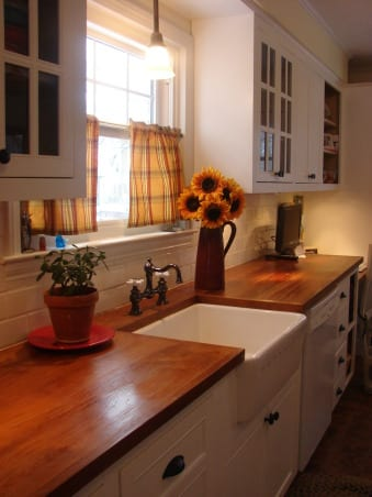 kitchen sinks with drainboards delta touch faucet wood countertops and wet areas | j. aaron