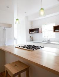White Kitchens and Wood Countertops - J. Aaron
