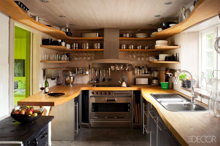 kitchen wood countertops cooking games counters and small kitchens j aaron shelving in