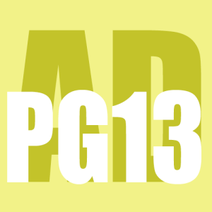 "Rated AD-PG13 (Audio Drama ""PG13"")"