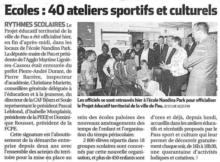 2013-09-25 - Mercredi - Article La République des Pyrénées