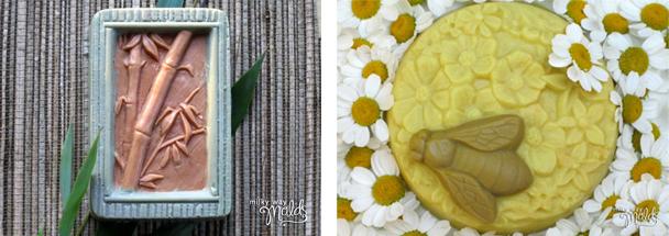 Moldes bambú y abejas