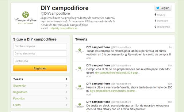 Página de Twitter de DIYcampodifiore