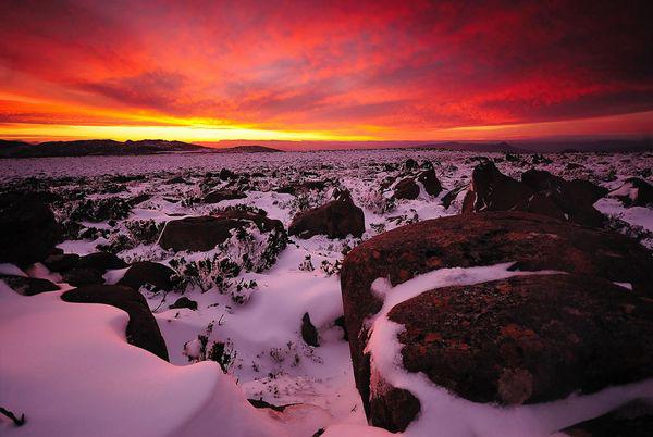 Atardecer en Monte Wellington - Tasmania