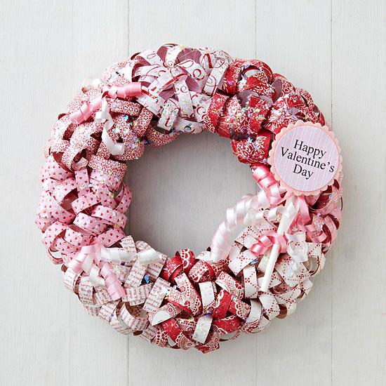 Guirnalda de papel para San Valentín