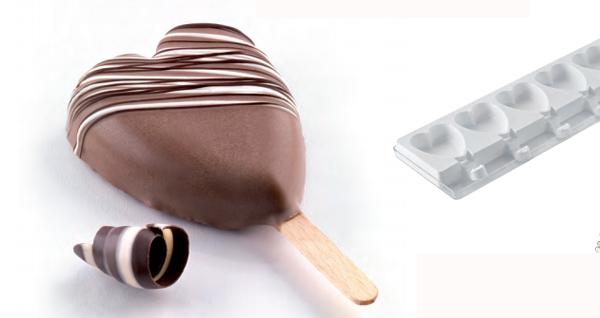 Molde para hacer helados con forma de corazón - jabonnatural.com