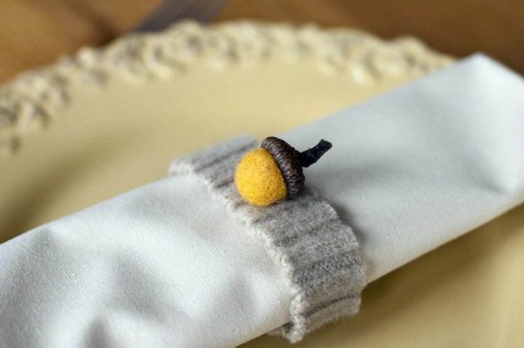 Anillos de lana para servilletas