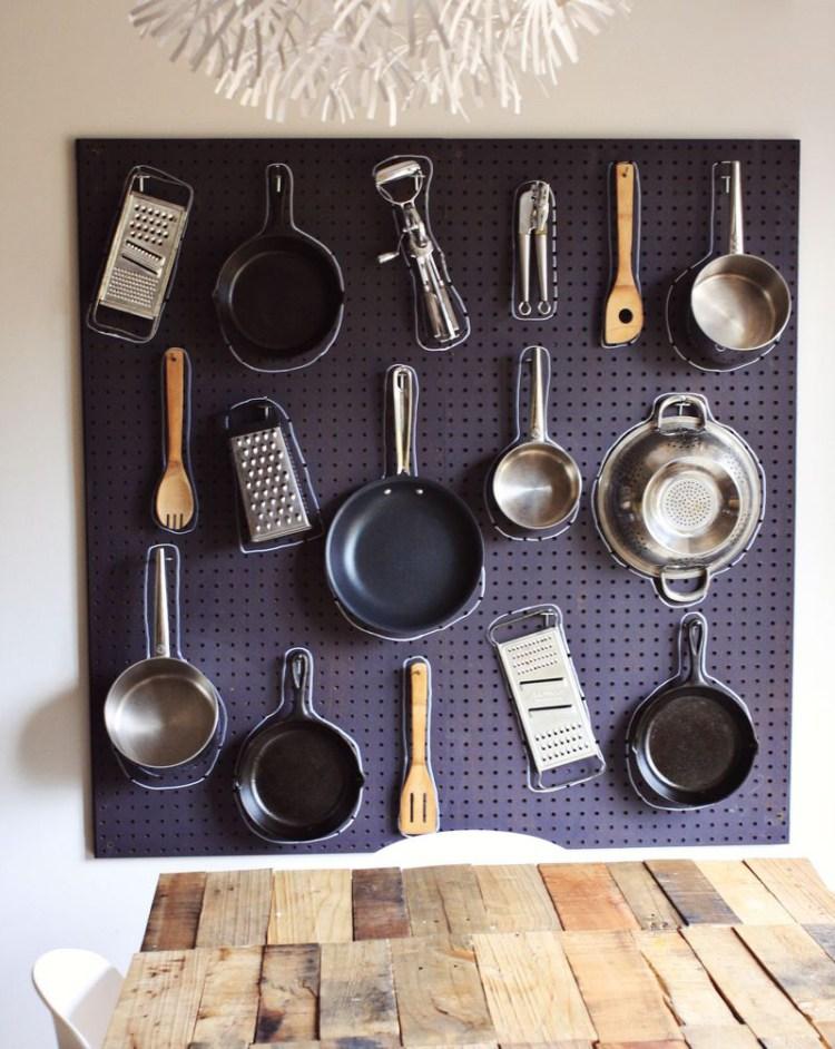 Organizador de pared para cocinas