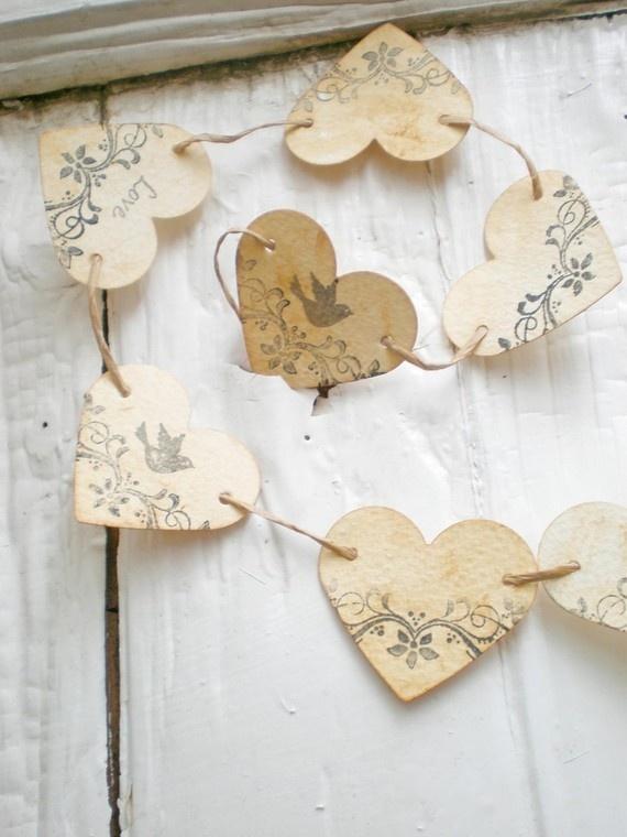 Guirnalda de corazones - Guirnaldas navideñas