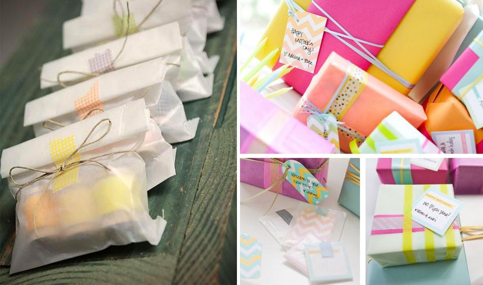 Ideas de decoración con cintas washi tapes