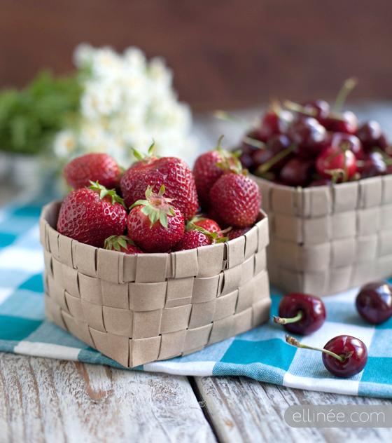 DIY - cestas de fruta con papel
