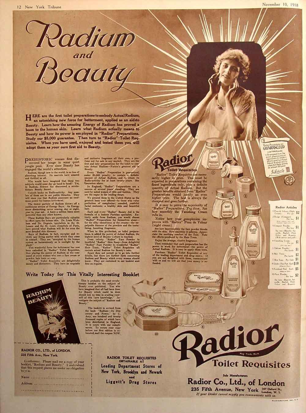 Cosmética radiactiva