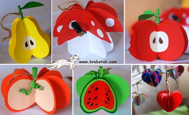 Hacr guirnaldas con forma de frutas