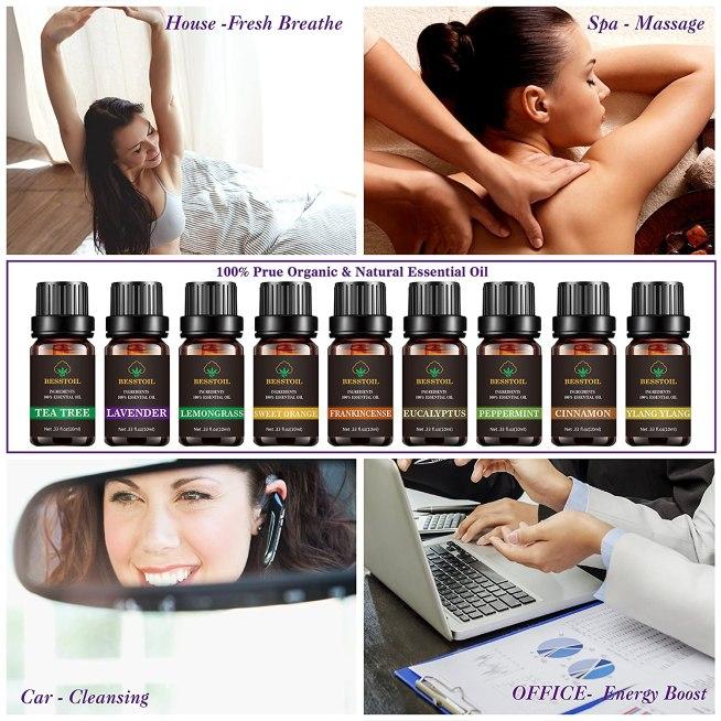 Caja de 9 aceites esenciales de grado terapéutico