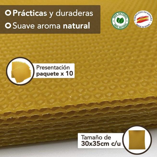 Láminas de cera de abeja