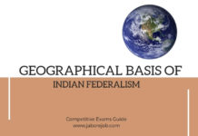 Geographical basis of Indian Federalism