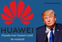 dispute over Huawei could be resolved, trump