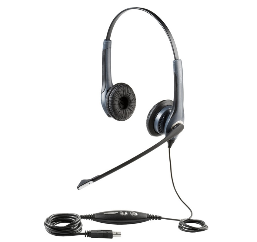 Wired Headset, Jabra GN2000 USB Duo Microsoft