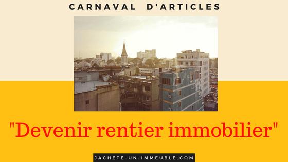 Carnaval d'articles «Rentier grâce à l'immobilier»